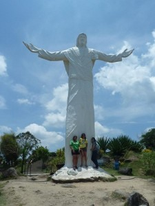 The 30-foot high statue of the Risen Christ in monasterio, much like the Christ the Redeemer statue in Brazil.