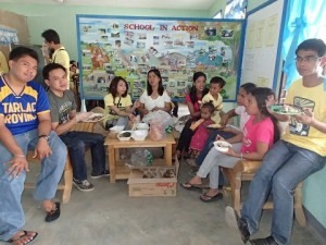 (with SSPES teachers) It has been a tradition in every smb community outreach to eat after the kids are through and eat the same food.