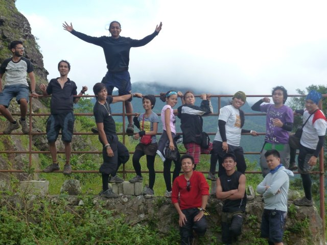 Team at the last gate before going back to Brgy. Tala